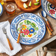 Flora Melamine Dinner Plates, Set of 4
