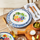 Flora Melamine Salad Plates, Set of 4