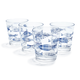 Fish Double Old Fashioned Glasses, Set of 4