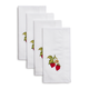 Embroidered Strawberry Napkins, Set of 4