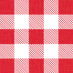 Red Gingham Paper Cocktail Napkins, Set of 20
