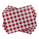 Gingham Cork-Backed Placemats, Set of 4