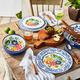 Flora Melamine 12-Piece Dinnerware Set