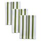 Olive Striped Dishcloths, 12