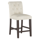 Camille Counter Stool, Espresso Leg Finish