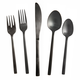 Fortessa Arezzo Black Brushed Flatware Sets