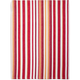 Red Small-Stripe Kitchen Towel