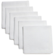 White Herringbone Cocktail Napkins, Set of 6