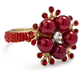 Beaded Flower Napkin Ring, Set of 4