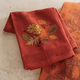 Harvest Leaf Embroidered Kitchen Towel