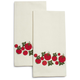 Tomato Embroidered Kitchen Towel, Set of Two