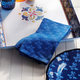 Blue French Floral Napkins, Set of 4