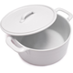 Blanc Round Cocotte with Lid