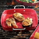 Red Nonstick Grill Pan