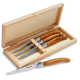 Dubost® Laguiole Olivewood  Steak Knives, Set of 4