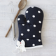 Dotty Bow Vintage-Inspired Oven Mitt