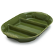 Oven-to-Table Green Three-Sectioned Dish
