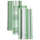 Plaid Striped Rosemary Kitchen Towels, Set of 3 + Free Set