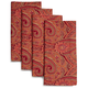 Wine Paisley Napkins, Set of 4