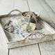 Whitewash Wood Tray