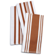 Copper Striped Kitchen Towels, Set of 3