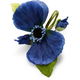Blue Poppy Napkin Ring