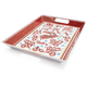 Red Rooster Melamine Rectangular Tray