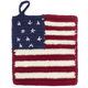 American Flag Crochet Pot Holder