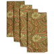 Green Paisley Napkins, Set of 4