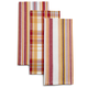 Harvest Plaid Striped Kitchen Towels, Set of 3