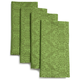 Green Jacquard Napkins, Set of 4