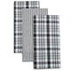 Black Plaid Striped Kitchen Towel, Set of 3