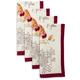 Couleur Nature Rooster Printed Napkins, Set of 4