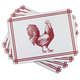 Cork-Backed Rooster Placemats, Set of 4