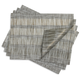 Chilewich Fringe Stripe Brindle Placemat, 19