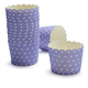 Paper Eskimo Lilac Dot Baking Cups, Set of 25