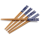 Blue Patterned Chopsticks, Set of 5