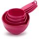Pink Melamine Measuring Cups, Set of 4