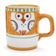 Hand-Painted Italian Owl Mug