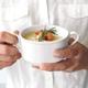 Blanc Double-Handle Soup Bowl