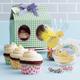 Meri Meri Green Gingham Cupcake Party Boxes, Set of 3