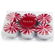 Candy Cane Tealight Candles, Set of Six