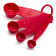 Red Melamine Measuring Spoons, Set of 4