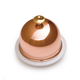 Mauviel® M'tradition Porcelain Butter Dish with Copper Lid