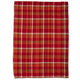 Red Waffle Check Kitchen Towel