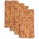 Copper Paisley Napkins, Set of 4