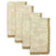 Cream Classic Jacquard Napkins, Set of 4