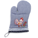 Dotted Rooster Vintage-Inspired Oven Mitt