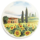 Tuscan Landscape Cheese Serving  Platter