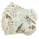 Cork-Backed Bird Placemats, Set of 4